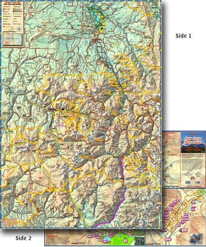 San Juan Mountains Guide (Folded)