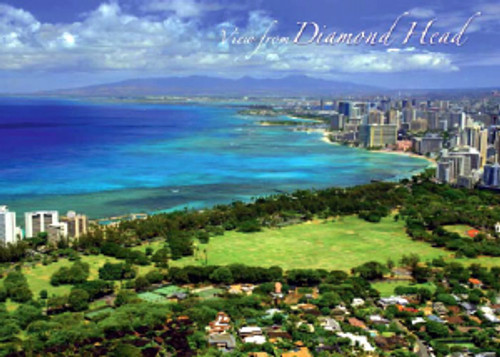 Diamond Head View 5x7 Postcard 25 Pack