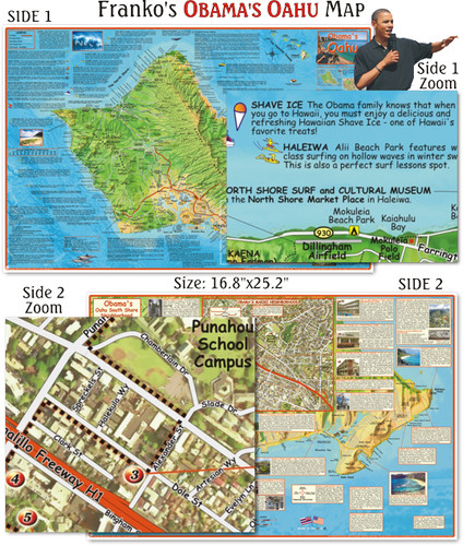 Obama's Oahu Guide Map (Folded)