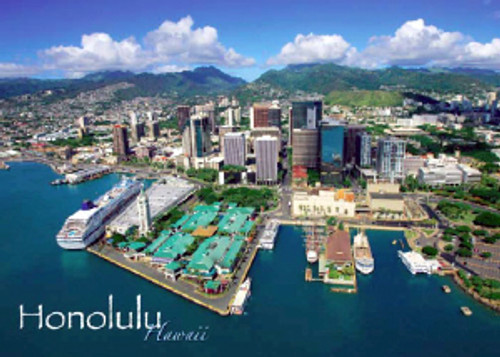 Honolulu Harbor 5x7 Postcard 25 Pack