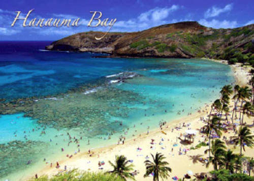 Hanauma Bay 5x7 Postcard 25 Pack