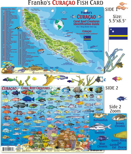 Curacao Reef Creatures Guide (Mini-map and Fish Card)