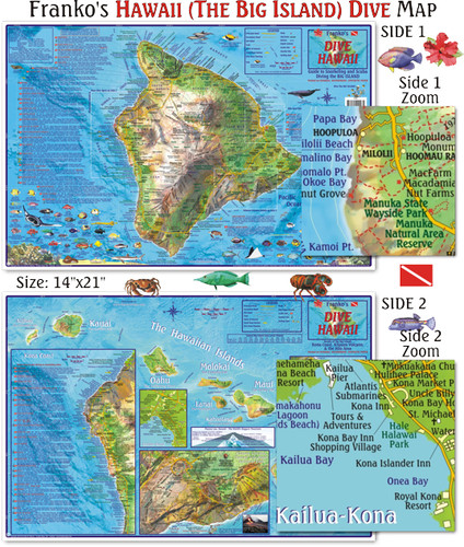 Big Island Dive Map (Laminated)
