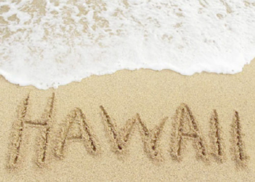 Hawaii in Sand 5x7 Postcard 25 Pack