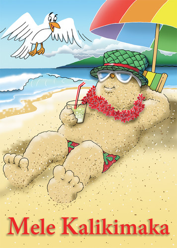 Christmas Cards - Hawaiian Holidays - Sandman / 10 cards per box