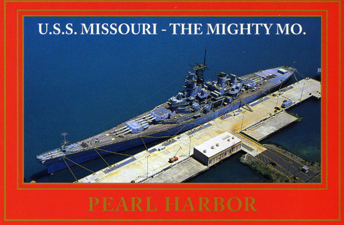 P829 - USS Missouri - Red Border Postcard 50 Pack