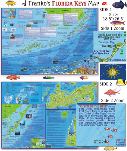 Florida Keys Guide & Dive Map (folded)