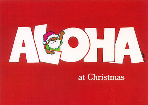 Christmas Cards - Coral Cards - C0442 / Aloha At Christmas / 10 cards per box