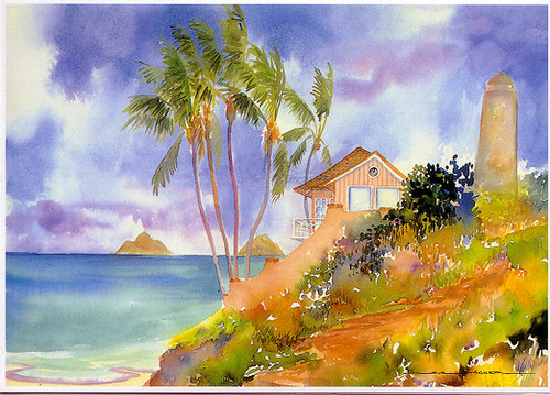Lanikai Beach House - Notecard 6 Pack