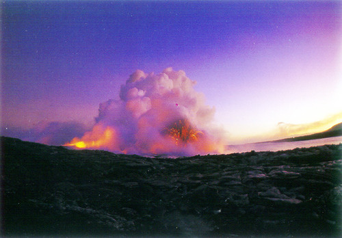 P477 - Lava into Ocean Postcard 50 Pack