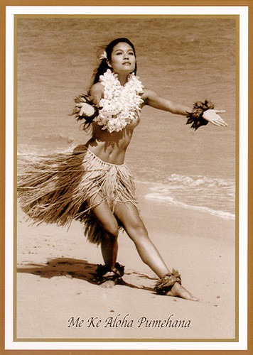 Female Dancer - He U'i - Kim Taylor Reece - Notecard 6 Pack