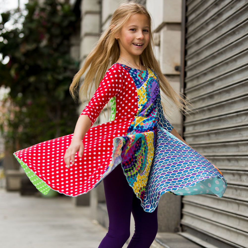 Young Girls Rainbow Dress