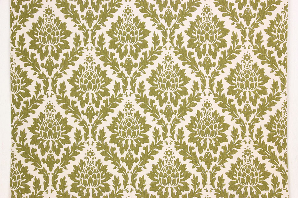 1960s vintage wallpaper green damask design rosie s vintage wallpaper