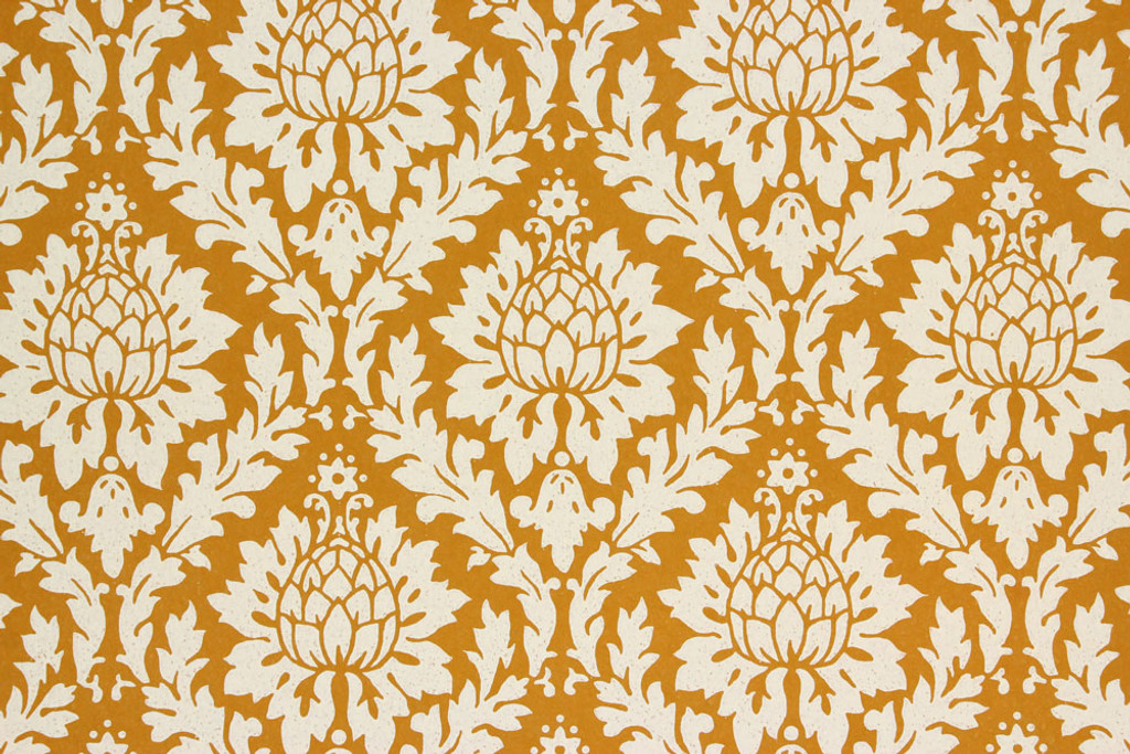 1960s vintage wallpaper white on caramel damask design rosie s