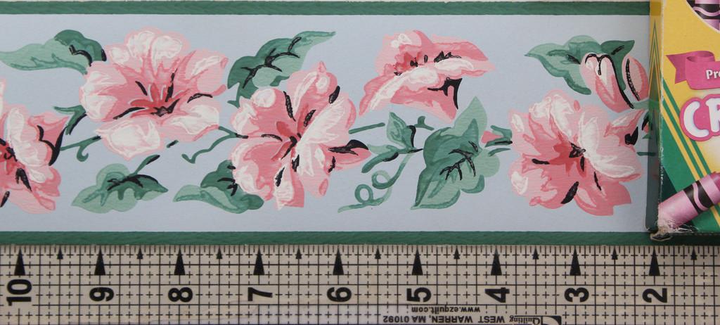 Imperial Vintage Wallpaper Border Morning Glory Pink