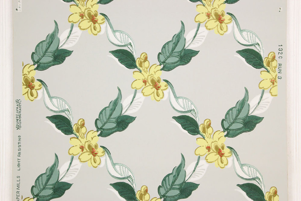 1940s vintage wallpaper yellow flowers on gray 1940s vintage wallpaper yellow flowers on gray mightylinksfo