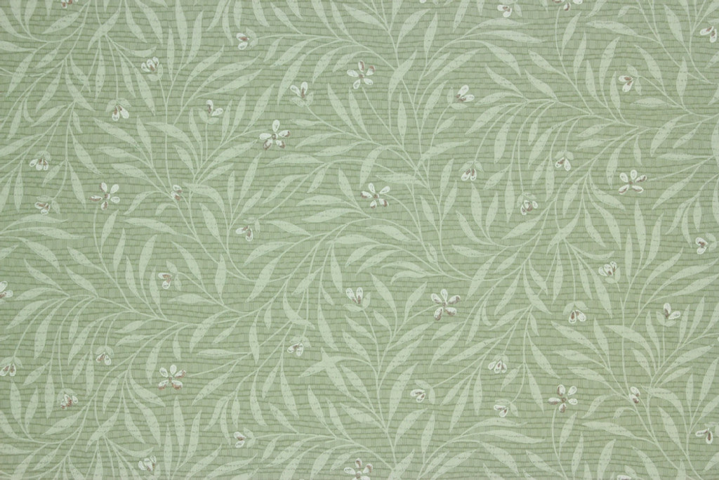 1940s Vintage Wallpaper Small Flowers on Green