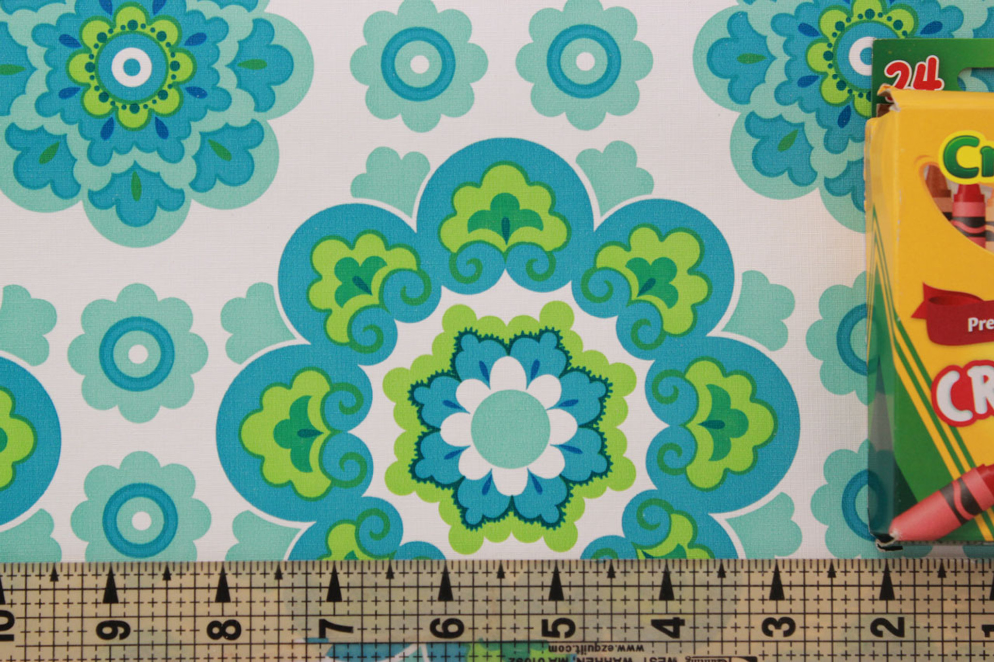 1970s Vintage Wallpaper Retro Blue and Green Geometric - Rosie\'s ...
