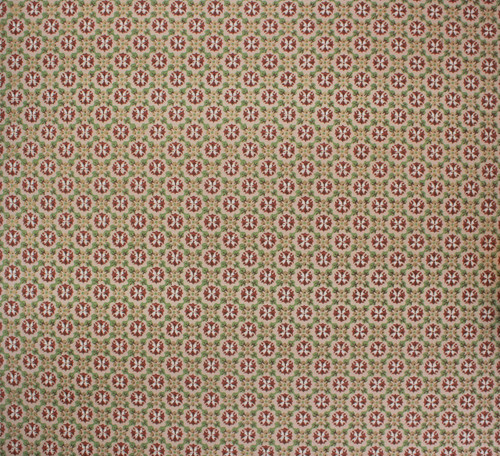 1970s Vintage Wallpaper Brown and Green Geometric
