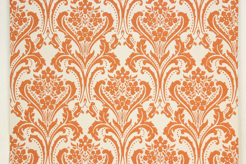 1960s vintage wallpaper copper damask design rosie s vintage wallpaper