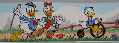 Dex Vintage Wallpaper Border Disney Donald Duck