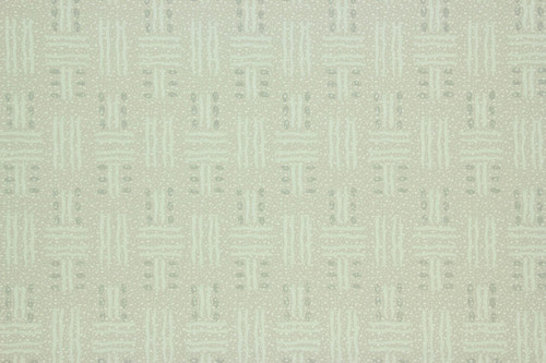 1940s Vintage Wallpaper Green Basket Weave