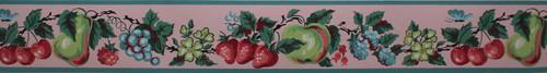 Imperial Vintage Wallpaper Border Fruit Pink