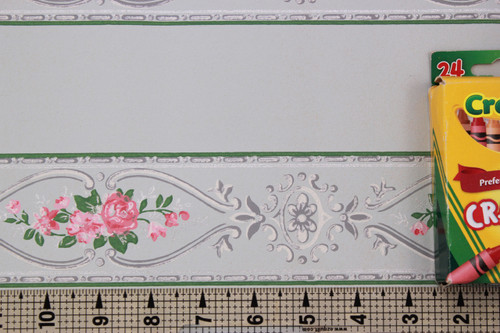 1930s Vintage Wallpaper Border Pink Rose