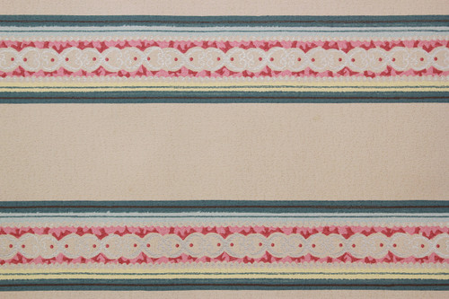 1940s Vintage Wallpaper Border Pink and Blue