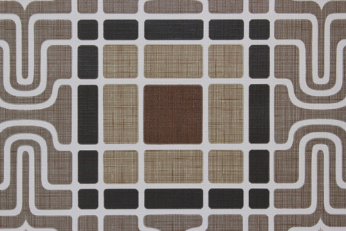 1970s Vintage Wallpaper Retro Geometric Brown Black