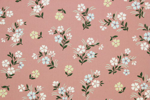 1940s Vintage Wallpaper Small Flowers on Mauve