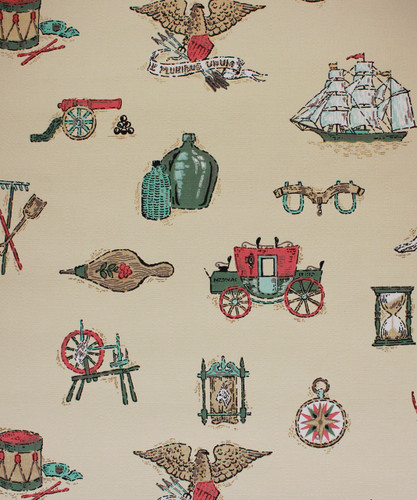 1950s Vintage Wallpaper Stagecoach