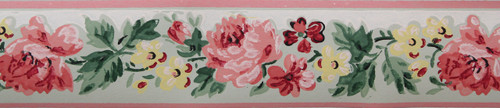 Imperial Vintage Wallpaper Border Rose Green
