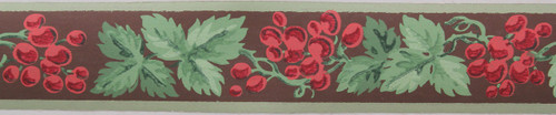 Kem-Tone Vintage Wallpaper Border Red Grape