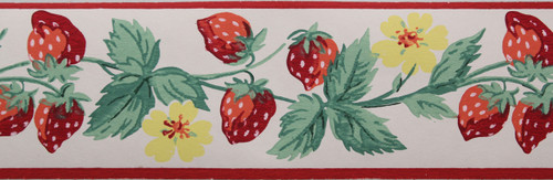 Trimz Vintage Wallpaper Border Berry Festival