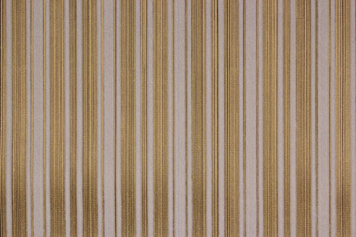 1970s Vintage Wallpaper White Flocked Stripe on Gold Black Pinstripe