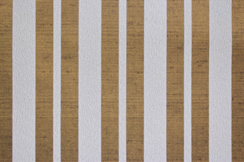 1970s Vintage Wallpaper White Flocked Stripe