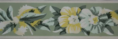 Trimz Vintage Wallpaper Border Floral Trim