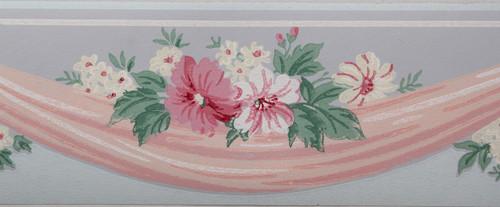 Trimz Vintage Wallpaper Border Floral Drape