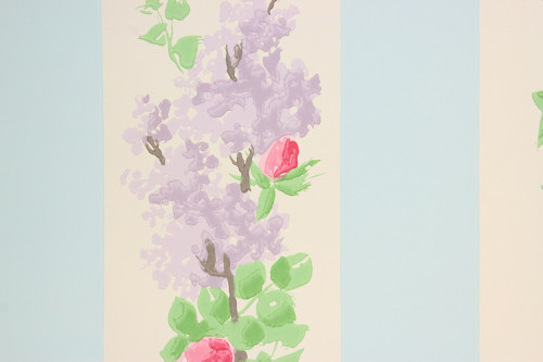 1950s Vintage Wallpaper Lilacs and Roses--Made in France