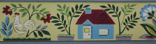 Trimz Vintage Wallpaper Border House & Garden