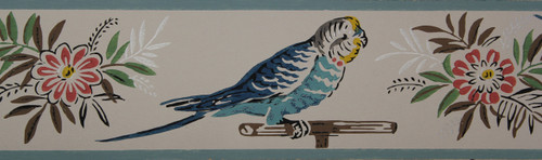 Trimz Vintage Wallpaper Border Parakeet
