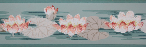 Trimz Vintage Wallpaper Border Lotus