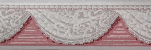 Trimz Vintage Wallpaper Border Lace Swag Rose