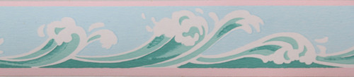 Trimz Vintage Wallpaper Border Seafoam