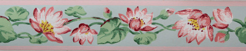 Trimz Vintage Wallpaper Border Lotus Blossoms