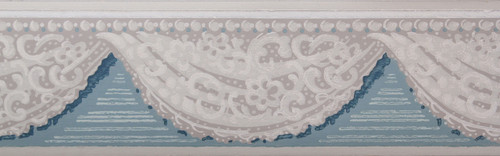 Trimz Vintage Wallpaper Border Lace Swag Blue