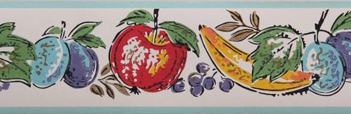 Trimz Vintage Wallpaper Border Fruit Festival