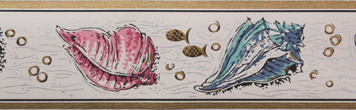 Trimz Vintage Wallpaper Border Seashell