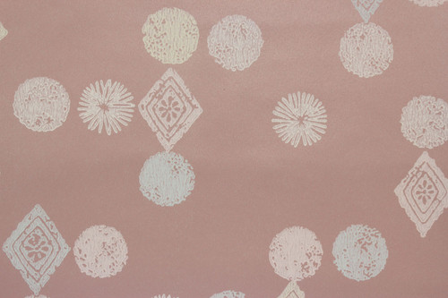 1950s Vintage Wallpaper Retro Starbursts Geometric on Dark Pink